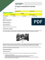 Prevención de riesgos en demoliciones
