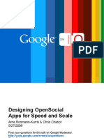 Designing OpenSocial Apps for Speed and Scale