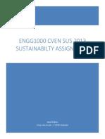 Sustainability Assignment ENGG1000 Janush Adabjou