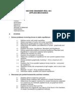 Second Eng III_2 Applied Mechanics Syllabus Add