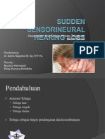 Sudden Sensorineural Hearing Loss