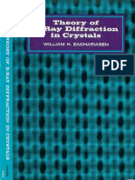 Zachariasen w.h - Theory of x Ray Diffraction in Crystals