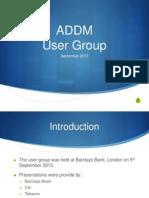 BMC ADDM Discovery User Group - September 2013