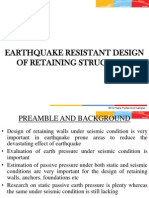 Earthquake Resistant Design of Retaining Structures