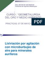 Practicas de Lixiviacion Con Microburbujeo - Ing. Aquiles Figueroa