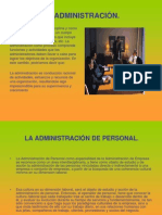 La Administracion de Personal(Diapositivas)