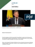 Santos Con Actitud Belica Prensa Nicaraguense