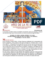 Hora Santa. La Iglesia Madre. Año de la Fe. Papa Francisco