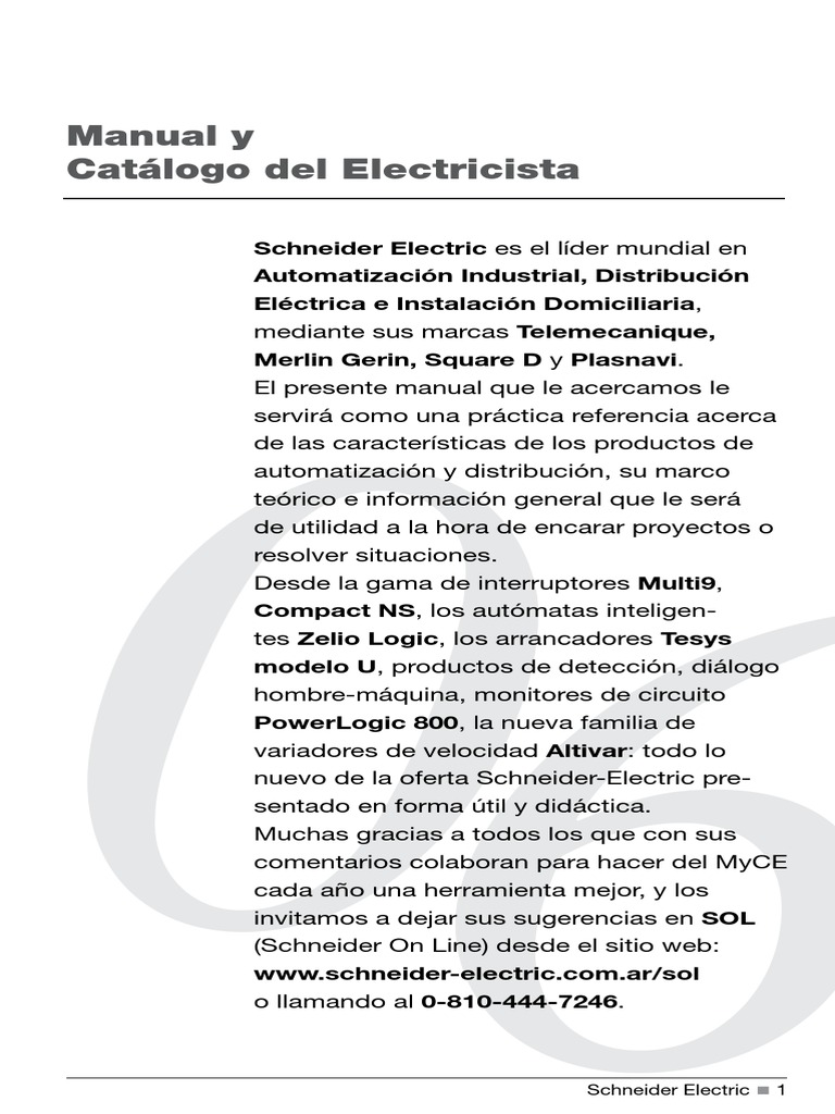 Manual Y Catalogo Del Electricista Schneider Electric Ebook