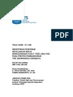 Identifikasi Penyebab Kecelakaan Kerja Menggunakan Fault Tree Analysis Pada Proyek Pembangunan the Adhiwangsa 2