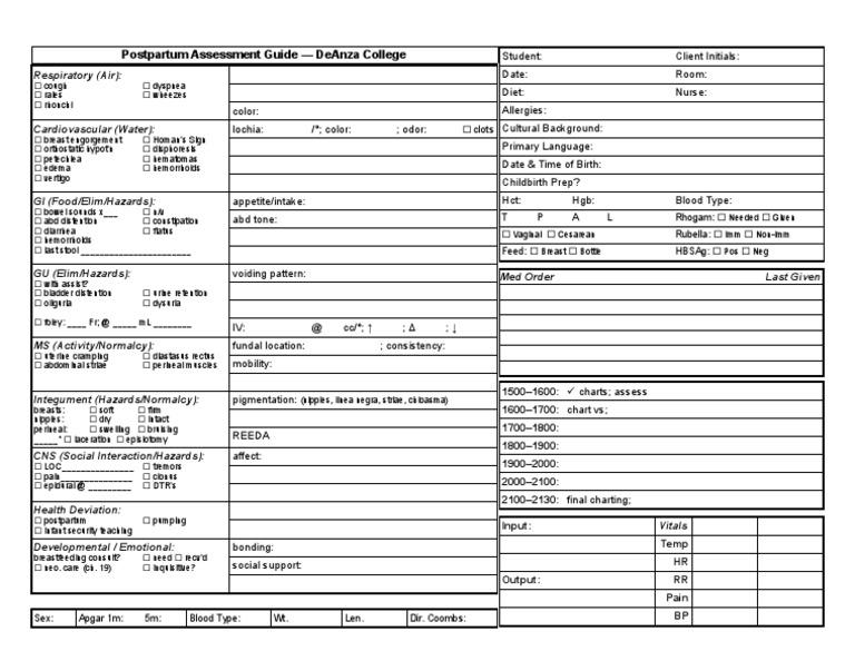 patient worksheet