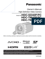 Panasonic HDCTM41P Camcorder Manual