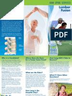 Lumbar Fusion Brochure