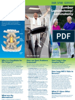 Lumbar Laminectomy Brochure