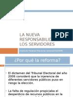 Responsabilidad electoral servidores públicos