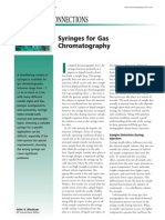 Syringes for gas chromatography