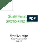 20100110-Secuelas Psicosciales Del Conflicto Armado Interno Mag. Miryam Rivera