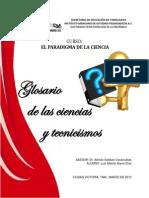 Glosario de Ciencias y Tecnicismos
