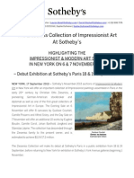 The Zieseniss Collection Of Impressionist Art At Sotheby's - New York, Nov 2013