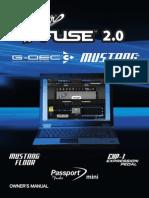 FenderFUSE 2.x (GDEC3,MustangAmplifiers,MustangFloor,EXP1pedal,PassportMini) Rev-G English