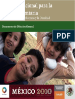 Folleto Acuerdo Nacional Salud Alimentaria Mexico 2010