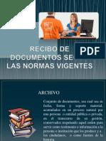 Recibo de Documentos Segun Las Normas Vigentes