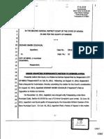 2 13 13 0204 62337 ROA FHE13 Bates 1797 to 1799 2JDC Judge Elliott's Order Granting RCA Hazlett's Motion to Dismiss Appeal in Cr12-1262 26405 61901