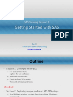 SAS Training Session 1