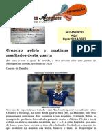 Cruzeiro goleia e continua líder; veja resultados desta quarta
