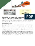 Santa-PB e Esporte-P empatam sem gols e adiam definição da 2ª divisão