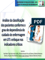Analise Da Classificacao Dos Pacientes Conforme o Grau de Dependencia Do Cuidado de Enfermagem Em Uti Enfoque Nos Indicadores Criticos