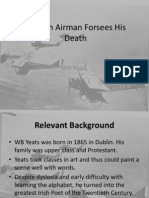 an irish airman forsees his death
