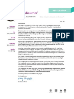 CJF Ministries June 2013 Newsletter