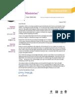 CJF Ministries August 2013 Newsletter