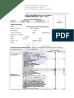 Formulário Inscrição Processo Seletivo 2013-1