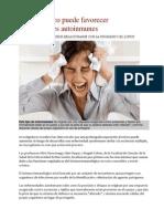 Estrés crónico puede favorecer enfermedades autoinmunes