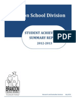 2012-13 Student Achievement Summary Report