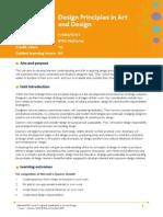 Unit 8 Design Principles in Art and Design
