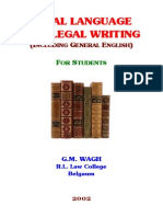 Legal Language and Writing