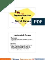 Lec 1 _ Superelevation
