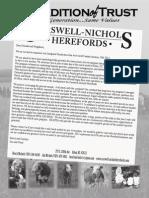 Carswell-Nichols Herefords Fall 2013 Newsletter