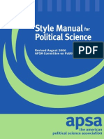 APSA Style Manual for Political Science Students (2006)