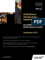 OCR History Changes From September 2013
