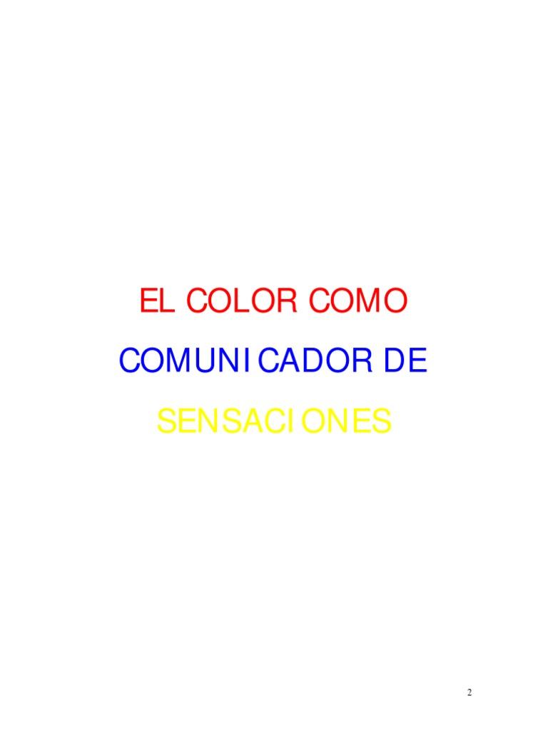 El Color Como Comunicador de Sensaciones