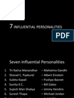 Seven influential persons who influenced the world
