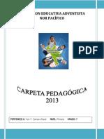 Carpeta Pedagógica 2013 - PRIM