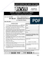 Www.vvrias.com Files Question Papers Upsc Ias Main 2013 Expected New Pattern a Consolidated Question Paper Cum Answer Booklet