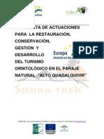 Propuesta de Turismo Ornitologico en El Paraje Natural Alto Guadalquivir