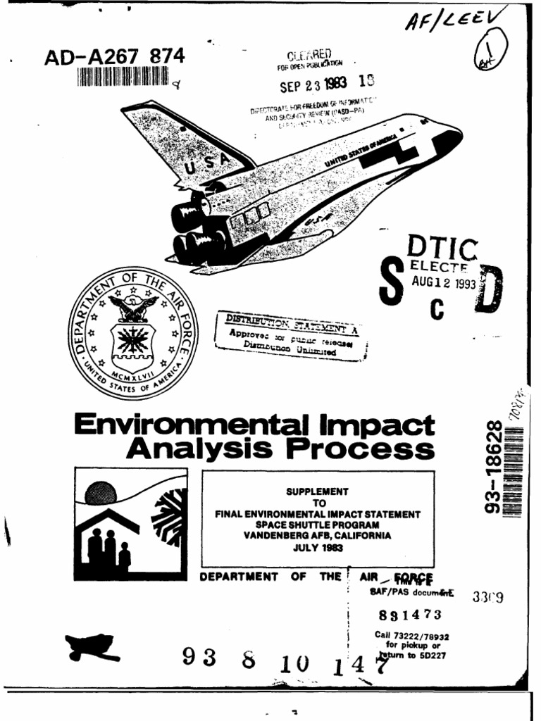 Space Shuttle Vandenberg AFB Environmental Impact Report