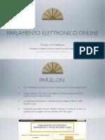 Presentazione Della Piattaforma PARELON al Senato
